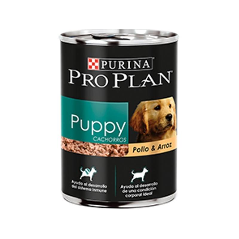 ProPlan - Cachorros - Puppy Pollo y Arroz (Lata 368 gr) - Paquete de 12 piezas
