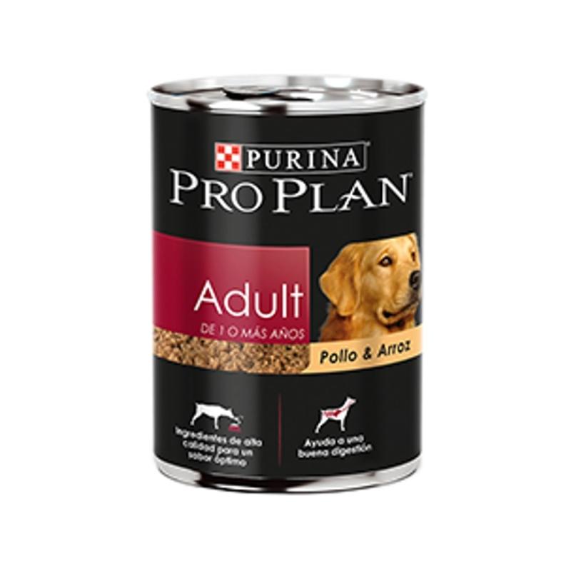 Proplan - Adultos - Adult Pollo y Arroz (Lata 368 gr) - Paquete de 12 piezas