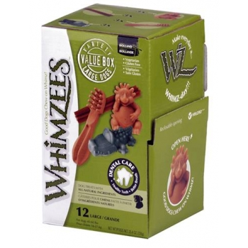 Whimzees - Premios Variados Large - Caja con 12 piezas